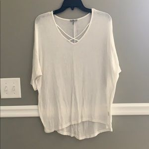 White Charlotte Russe Top. Size S